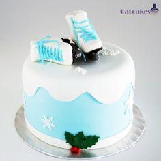 Ice skate cake - by CatcakesMadrid @ CakesDecor.com - cake decorating website