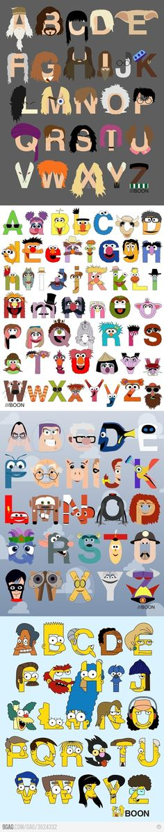 Fantastic face fonts!!!! These are funny and intriguing all at the same time.  They're from http://9gag.com/gag/3624332
