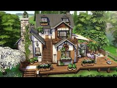The Sims, Sims Cc, Sims 4 House Plans, Sims 4 House Building, Sims House Design, Sims 4 Characters, Sims Ideas, Mini Houses, Sims 4 Build