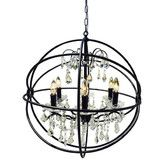 Found it at Wayfair - 24 Inch Iron Orb Sphere Crystal Chandelier
