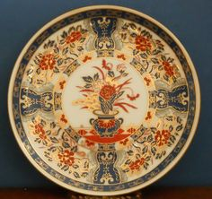 A medium porcelain Japanese Traditional gilt Imari Cabinet plate #Decorativeplate