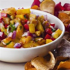 Grilled Fruit Salsa with Lime, Tequila and Smoked Paprika