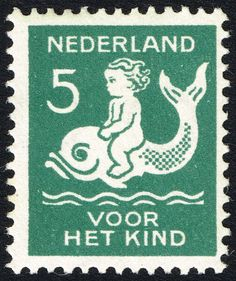 Netherlands, 5 + 3c, 1929 : : semi-postal issue benefiting child welfare; one in a series of four stamps issued, sc# B37-B40. (stamp shown, sc# B38)