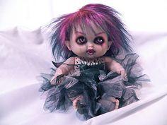 OOAK Krypt Kiddies Evil Horror Gothic Fairy Princess Reborn Demon Doll | eBay