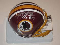 Robert Griffin III Washington Redskins Signed Autographed Mini Helmet with Certificate of Authenticity COA by NFL. $129.99. this item is a new MINI HELMET . the item is hand signed my the player . this item will come  with a Certificate of Authenticity . you will be 100% happy or your money back .