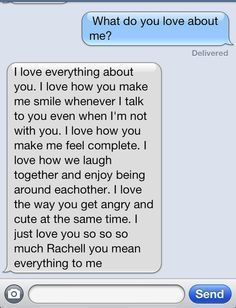 Love you text messages for him