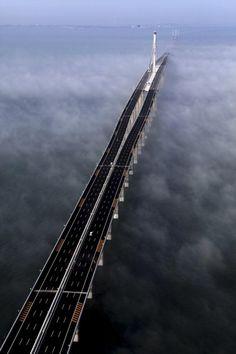 I hope #China plans a #marathon that just runs across this bridge, since it's 26 miles long.