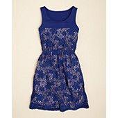 Aqua Girls' Lace Bodice Jersey Dress