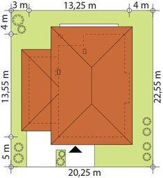 DOM.PL™ - Projekt domu TP Enes CE - DOM TP2-48 - gotowy koszt budowy House Outside Design, Modern Architecture House, House Plans, Peace, How To Plan, Blueprints For Homes, Home Plans, House Design, House Floor Plans