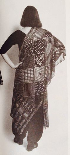 "From the book ""Harriet Love's Guide to Vintage Clothing"".  Vintage assiut shawl"