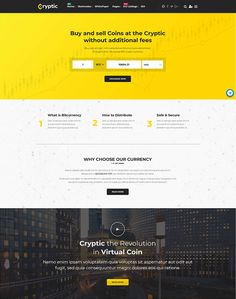 Cryptic - Cryptocurrency WordPress Theme - ModelTheme Sell Coins, Home Exchange, Crypto Currencies, Cryptocurrency, Wordpress Theme