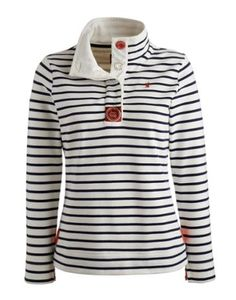 Joules null Womens Sweatshirt, Navy Stripe.                     If you haven't got a favourite sweatshirt, let us suggest this Joules classic. A perfect companion when the thermometer doesn't make good reading.