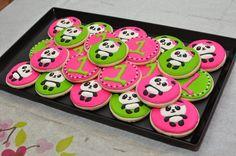 Panda Sugar Cookies, made by Amy Elkins Panda Themed Party, Panda Birthday Party, Panda Party, Girl Birthday Themes, Bear Party, Bear Birthday, First Birthday Parties, First Birthdays, 2nd Birthday