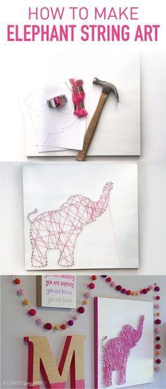 How to Make Elephant String Art