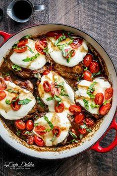 Balsamic Glazed Caprese Chicken - Cafe Delites
