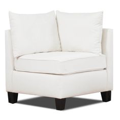 Let this sleek and stylish corner chair help tie your other furniture together with its subtle coloring and modern design. Create a wonderfully contemporary atmosphere in your home by adding this natural chair to your home's decor.
