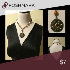 💥 2 for $10 Medallion Necklace Metal and plastic bead medallion necklace. Adjustable length. Lightweight. All jewellery in my closet is on sale 2 for $10, 3 for $15. Use the bundle tool. Jewelry Necklaces