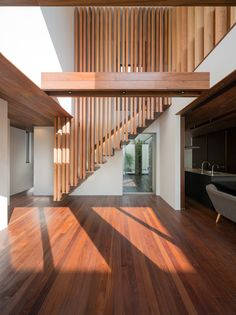 Stairs house (shell house) by masahiko sato of architect show in fukuoka city, japan Architecture Details, Interior Architecture, Interior Design, Design Studio, House Design, Shell House, Escalier Design, Wooden Staircases, Interior Stairs