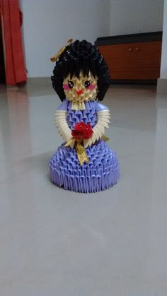 3D Origami Girl