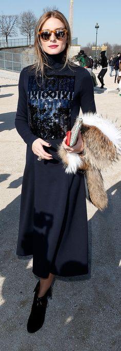 Olivia Palermo at Paris Fashion Week Fall 2015