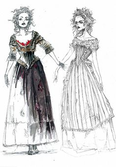 Sweeney Todd Costume Sketch Mrs. Lovitt by Hoopy*, via Flickr