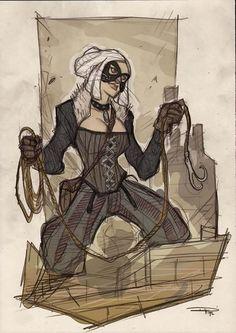 #Steampunk Spider-Man Villains /// Black Cat /// by Denus Medri