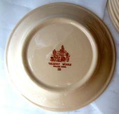 "4 Wallace Desert Ware 7"" Tan Salad Plates Vintage Restaurant Ware Retro 60s | eBay"