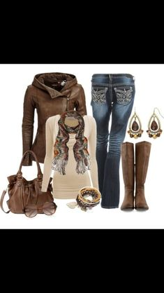 Don't love the super decorative jeans but like the natural tones.