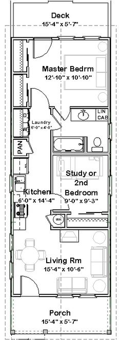 A Little Bit of This, That, and Everything: Shotgun House Plan