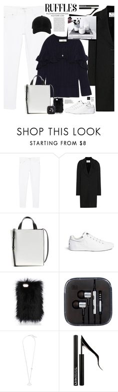 """""""Add Some Flair: Ruffled Tops"""" by palmtreesandpompoms ❤ liked on Polyvore featuring MANGO, Acne Studios, Marni, Ash, Witchery, Forever 21 and rag & bone"""