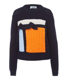 MSGM Patchwork Ruffle Knitted Jumper | Womenswear | Liberty.co.uk