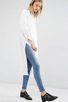 Shirt: le fashion image blogger white long dress back to school