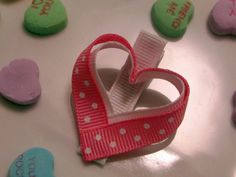 SALE  Valentine Heart Pink Toddler Hair by TurtleTotsDesigns, $1.50