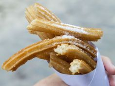 While the parks are closed you can at least replicate the churros. While the parks are closed you can at least replicate the churros. Donut Recipes, Snack Recipes, Snacks, Churro Bites, Cuban Cuisine, Serving Plates, Cooking Time, Cravings, Sauerkraut