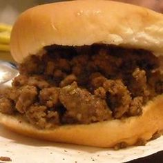 Many people have asked me for this recipe.  Sooo easy and tastes just like the Maid-rites you can find here in Iowa.   Loose Meat on a Bun, Restaurant Style Allrecipes.com