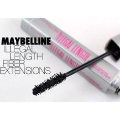 Maybelline Illegal Length Fiber Extensions Mascara in 941 Very Black Waterproof #Maybelline