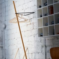 MONOQI | Triangle Coat Rack  - Oak/Blk