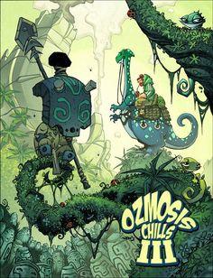 Red J :: The Blog of Jon Sommariva: Ozmosis Chills 3 2012 Art Book Cover!