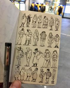 Character Sketches 266908715402252963 - Waiting… and observing✏️ Source by frontsidegrind Sketchbook Drawings, Drawing Sketches, Art Drawings, Cartoon Kunst, Observational Drawing, Sketchbook Inspiration, Sketchbook Ideas, Urban Sketching, Drawing People