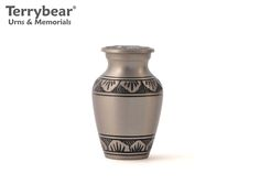 Terrybear Athena Pewter Keepsake. This Keepsake can hold a small amount of cremated remains.