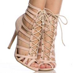 Lola ShoeTique Heels Lola ShoeTique Nude Faux Suede Heels. Worn once, Great condition!! No longer available on Lola ShoeTique Site. Comes w/ box True to Size. Lola ShoeTique Shoes