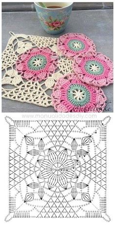 İşi Örgü Motif Şemaları -Tığ İşi Örgü Motif Şemaları - Crochet Christmas - It For You Shawl Pannello porta lavoro realizza Crochet granny avec diagramme ergahandmade: Crochet Stitches + Diagrams - Love Crochet Crochet Granny Square Rose S – Salvabrani Crochet Motifs, Granny Square Crochet Pattern, Crochet Diagram, Crochet Stitches Patterns, Crochet Chart, Crochet Squares, Diy Crochet, Crochet Designs, Knitting Patterns