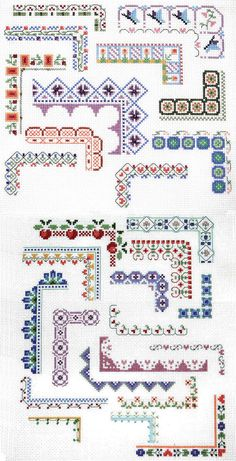 Counted Cross Stitch Border Patterns
