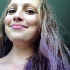 Mig med lilla/blåt hår