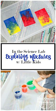 Lots of awesome ideas for exploring mixtures w/ little kids. Make chemistry fun! Rainbow sensory bags, inventing new colors, & color mixing. Check it out!