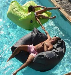 Sit in Pool - floating beanbag chair things!