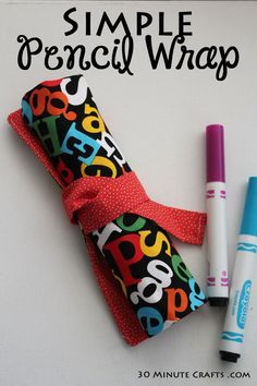 Ditch your zip-up pencil case this school year and create a pencil wrap instead! This DIY craft from 30 Minute Crafts is easy to sew and only requires five products to assemble.