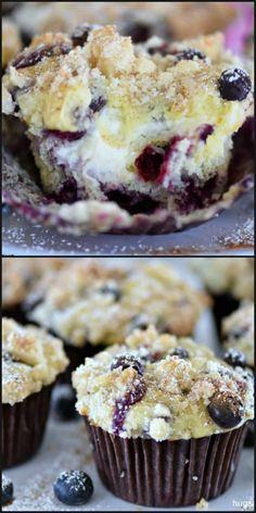 Blueberry Cream Cheese Muffins, Blueberry Cookies, Blueberry Recipes, Blue Berry Muffins, Blueberry Cheesecake Muffins, Blueberry Galette, Blueberry Biscuits, Blueberry Jam, Kuchen