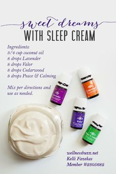 Need a little help sleeping? Try this Sleeping Cream recipe using Young Living Essential Oils to aid in a restful night's sleep.