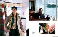 Feng Xiang Models Bold Fall Fashions from Prada, Versace + More for Elle Men Hong Kong image Elle Men Hong Kong Fashion Editorial 003 800x522